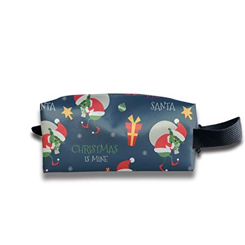 SweetieP Grinch Pattern Pencil Case Pen Zipper Bag Coin Organizer Makeup Costmetic Bag Portable Pouch -
