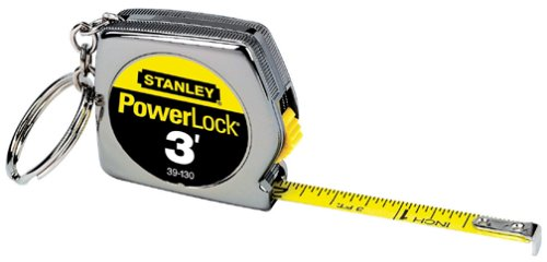 Stanley 39-130 3 x 1/4-Inch PowerLock Key - Measurement Tape Keychain