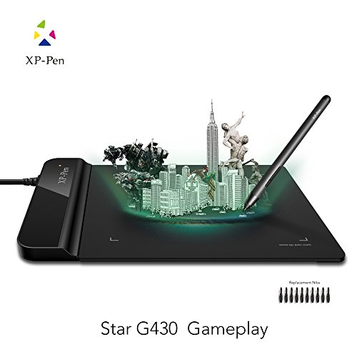 Usb Xp Pen - XP-Pen G430 4 x 3 inch Ultrathin Digital Tablet Graphic Drawing Tablet for Game OSU and Battery-free Stylus-designed! Gameplay