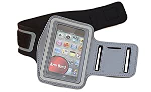 CrazyDis Jogging Running Gym Cycling Sports Armband for iPhone 4 4S (Grey)
