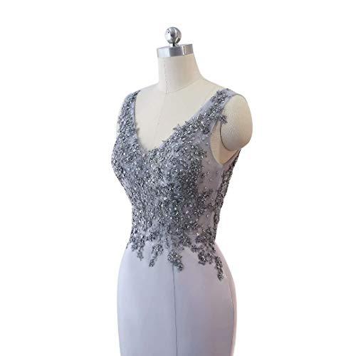 Kleider Party Doppel Abendkleid V Frauen Mermaid Lange 14 Ausschnitt Formale IO0w8x