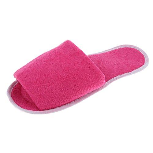Sharplace Pantoufle De Femme Rouge Avec pour Voyage Rose Non Maison Pliable Chaussons Sac Stockage Jetable qwZqr5