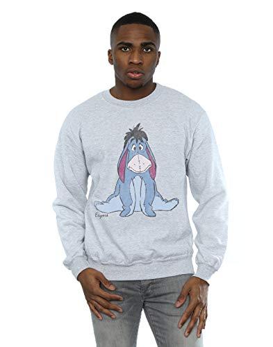 Disney Men's Winnie The Pooh Classic Eeyore Sweatshirt Sport Grey X-Large