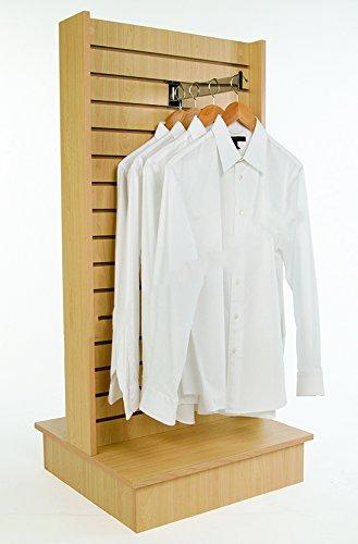 Econoco Maple Merchandiser for Shelves and Baskets - 2-Way Slatwall Merchandiser, For Heavy Duty Shelves, 25.5'' x 24'' x 54'', Slatwall Panel, Clothing Slatwall, Maple