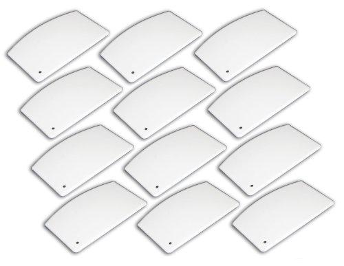 "(12 Pack) Plastic Bowl / Dough Scraper 5½"" x 3½"", White"