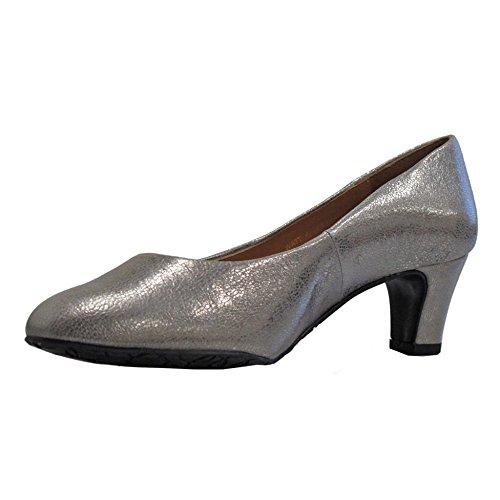 Van Women's Heels white Off Toe Closed Dal Bamboo Watt Metallic rTq5wrZ