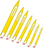 7 PCS White Plastic Fishing Line Equipment Repair Netting Needle Shuttles-Size:3#,4#,5#,6#,7#,8#,9#