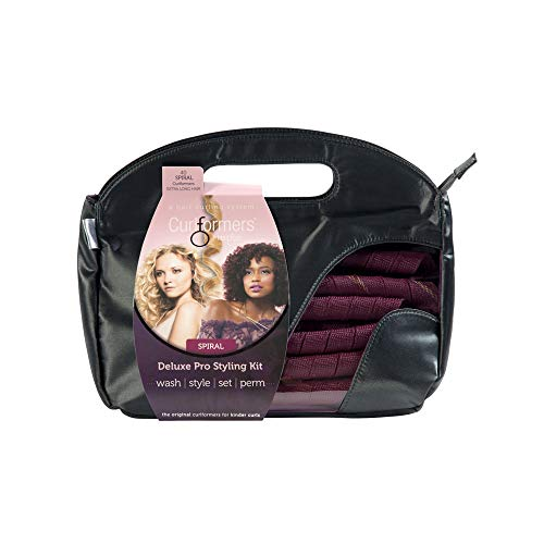 """Curlformers Hair Curlers Deluxe Range Spiral Curls Styling Kit, 40 No Heat Hair Curlers and 2 Styling Hooks for Extra Long Hair up to 22"""" (55cm) long"""