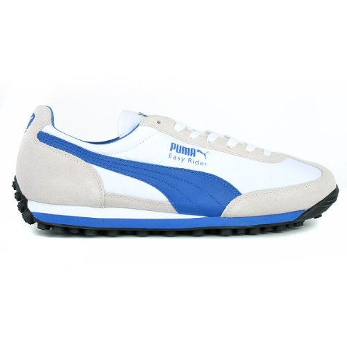 Puma Mens Mens Easy Rider 78 Trainers in white blue - UK 8  Amazon.co.uk   Shoes   Bags 98cd103b5