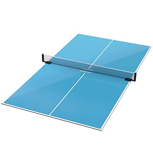 Great Deal! GamePoint Tables Table Tennis Conversion Top – Includes Net and Foam Backing for Protection