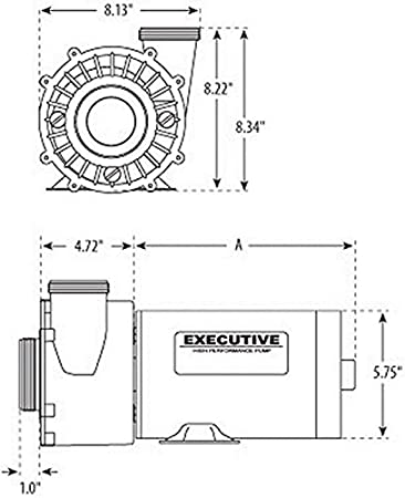Amazon waterway plastics 3420610 1a 15 hp 115v 2 speed 2 x 2 amazon waterway plastics 3420610 1a 15 hp 115v 2 speed 2 x 2 48 frame executive spa pump side discharge electric fan motors garden outdoor asfbconference2016 Choice Image