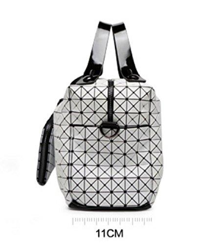 A Per Vintage Da Borsa Bag Blue Xzw Geometrica Pieghevole Women's Donna Tracolla wRFAfx