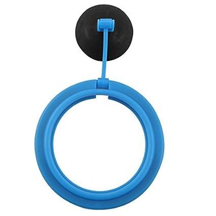 eDealMax acuario plástico del tanque de pescados brazo Ajustable ventosa Fish Food Alimentación anillo Azul