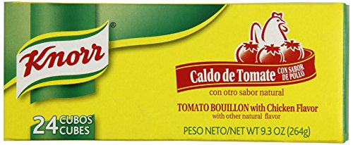 KNORR Bouillion Caldo de Tomate - Tomato With Chicken - 1 Package of 24 Cubes ()