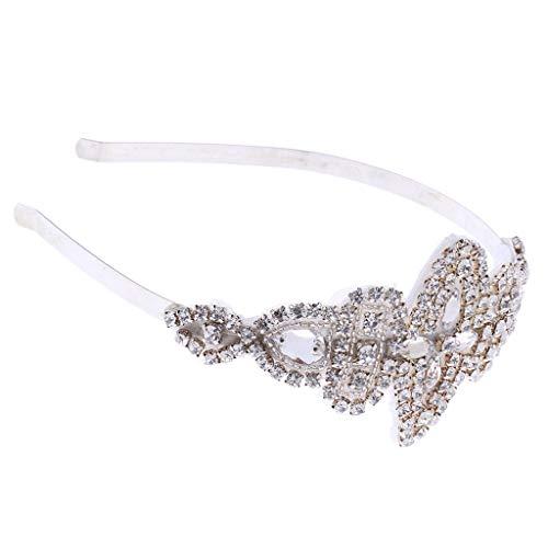 Crystal Rhinestone Floral Headband Bridal Tiara Wedding Accessory Silver