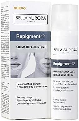 Bella Aurora Crema Repigmentante de la piel para Manchas Blancas o con déficit de pigmentación REPIGMENT12, 75 ml   Tratamiento cosmético para Rostro y Cuerpo   Apto para Pieles Sensibles