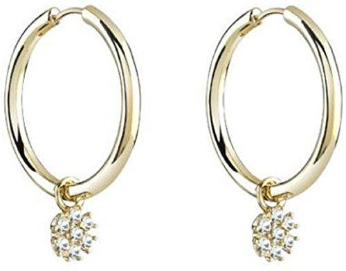 EARHOOP WITH FLOWER(GL) Women's Earrings UBE21545