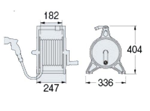 KAKUDAI Garden Cast aluminum Hose Reel 553-802