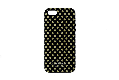 isaac-mizrahi-dual-layer-case-for-iphone-5-5s-se-black-and-gold-polka-dots