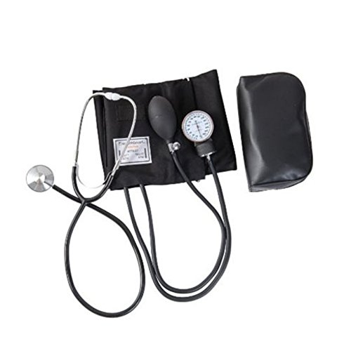 Manual Adult Size Deluxe Aneroid Sphygmomanometer - Professional Blood Pressure BP Monitor with Adult Cuff Set Sphygmomanometer Stethoscope Kit and Carrying Zipper case FDA by None (Image #6)