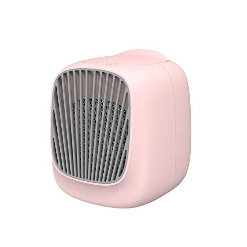 Tharv❤Portable Handheld Cooling Fan Colorful LED Handheld USB Rechargeable Electric Pink