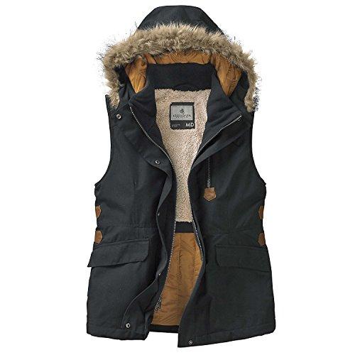 Legendary Whitetails Ladies Ketchikan Vest Black (Down Vest Fur Hood)