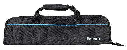 - Messermeister 5-Pocket Heavy Duty Nylon Padded Knife Roll, Luggage Grade and Water Resistant, Black
