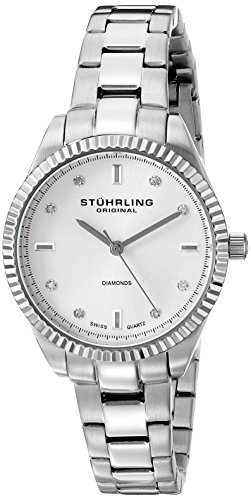 Stuhrling-Original-Symphomy-Allure-607L01-Reloj-de-pulsera-Cuarzo-Mujer-correa-deAcero-inoxidable-Plateado