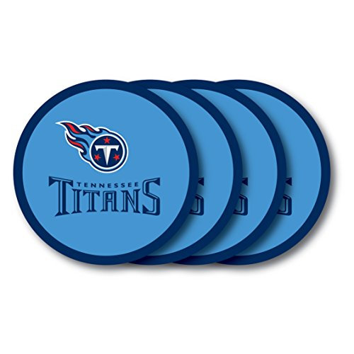 NFL Tennessee Titans Vinyl Coaster Set (Pack of 4)