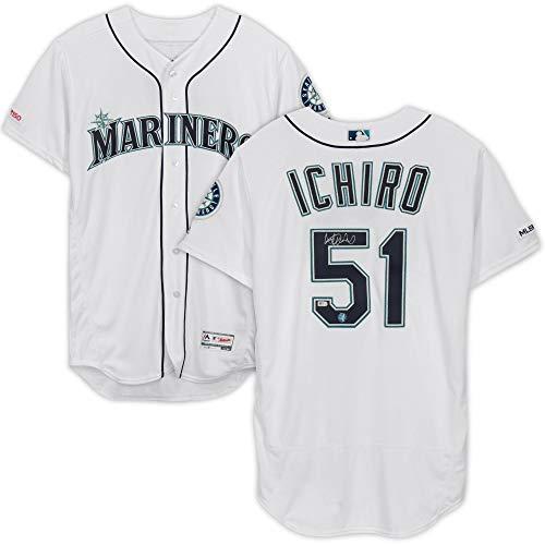 Ichiro Suzuki Seattle Mariners Autographed Majestic White Authentic Jersey - Fanatics Authentic Certified ()