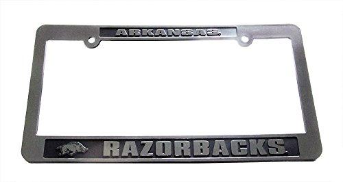 Jenkins Enterprises Arkansas Razorbacks Silver & Black Auto License Frame - Arkansas Razorbacks Gear