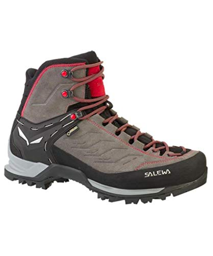 Gtx Backpacking Boot Mid (Salewa Men's Mountain Trainer Mid GTX Boots Charcoal/Papavero 11.5)