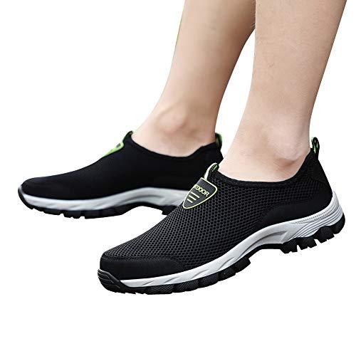 Men Mountaineering Farjing On Casual Mesh Outdoor Black Comfortable Shoes shoes Running Slip BwpgqdxwWO