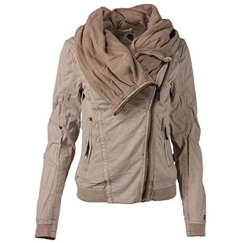 LuluZanm Women's Solid Color Coat, Sale Ladies Scarf Zip Up Jumper Hoody Jacket Fashion Long Sleeve Outerwear Khaki (Express Trench Coat Women)
