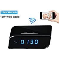 HD Wi-Fi Wireless Security Camera -LXMIMI 1080P Video Mini Camera Clock with Motion Activatedd Alarming Live Video Viewing Nanny Cam