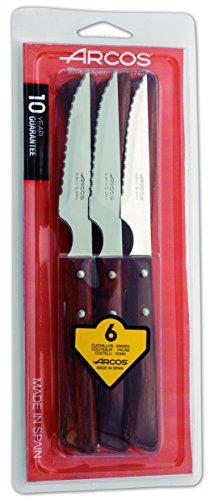 Arcos 372000 - Juego de cuchillos chuleteros, 110 mm (6pzas)