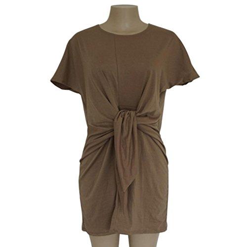 a2542cf05f83f9 ... Jaminy Damen Midikleid Sommerkleid Midikleid Kurzarm O-Ausschnitt Mode  Kleid Cocktailkleid AbendKleider Partykleid Khaki d4dyGitI2D ...