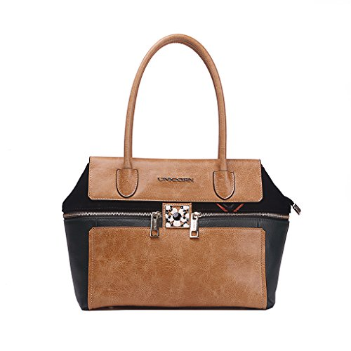 Unicorn Leather Elegant Tote Top Handle Shoulder Bag Uo-1153