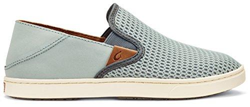 OLUKAI Pehuea Women's Shoe's Pale Grey/Charcoal