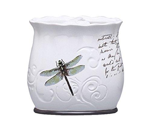 Moda at Home 104346 Dragonfly Ceramic Waste Basket