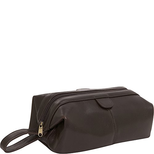 Amerileather Leather Toiletry Bag Brown - 3