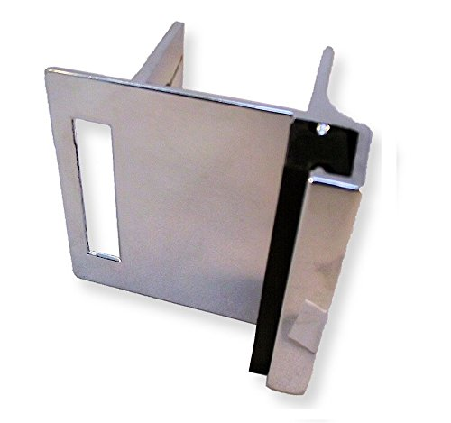 Chrome Plated Zamac Strike & Keeper For Slide Latch For Restroom Partition Door - Inswing - For 1-1/4''Square Edge Pilasters by Young's Catalog