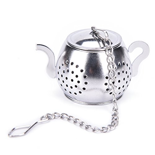 Funnytoday365 Stainless Steel Tea Infuser Loose Leaf Tea Strainer Herbal Spice Infuser Filter Rocket Teapot Heart Oval Circular Tea Tools by FunnyToday365 (Image #1)