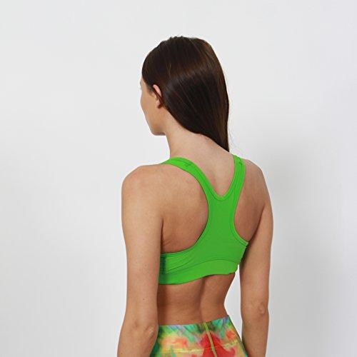 Gymheadz - Camiseta sin mangas - para mujer verde lima