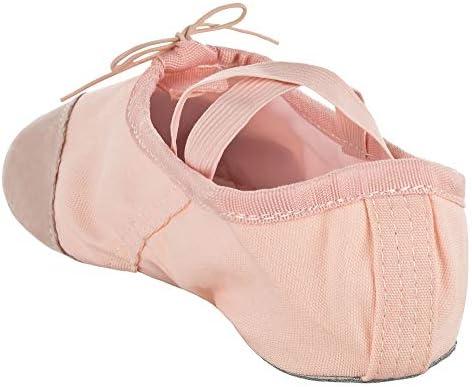 Ballet de lino toda suela de cuero negro-ballettschläppchen niños