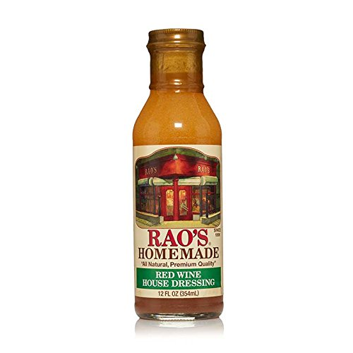 Rao's Homemade Red Wine House Dressing, 12 Fl Oz Bottle, 6 Pack, Red Wine Vinegar, Olive Oil and Garlic Dressing for Seasoning Salads, Potato Salads, Vegetables, Meat and Pasta by Rao's Homemade
