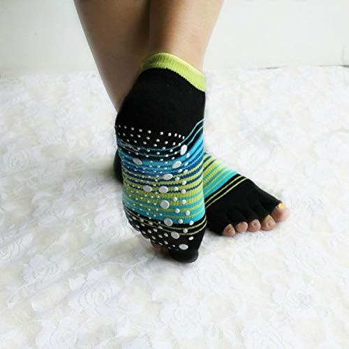 Socks Fashion - Women Ladies Stripe Five Toes Yoga Socks ...