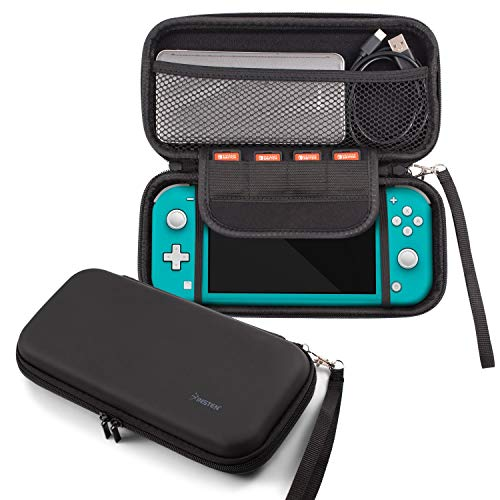 For Nintendo Switch Lite Case, Portable Travel Carrying Case EVA Hard Shell Protective Zip Pouch with Game Card Holder Slots For Switch Lite Edition 2019 New Console & Game Accessories Black by Insten