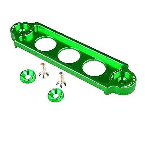 Yeshai3369 Car Battery Hold Down Bracket, Aluminum Alloy Car Battery Tie Down Brace Bracket Mount Holder: