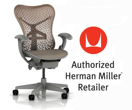 Mirra Chair by Herman Miller: Basic – Pneumatic Lift – Stationary Arms – Standard Tilt – Fixed Seat Depth – 2.5″ Black Carpet Casters – Shadow Frame/Cappuccino Seat Review